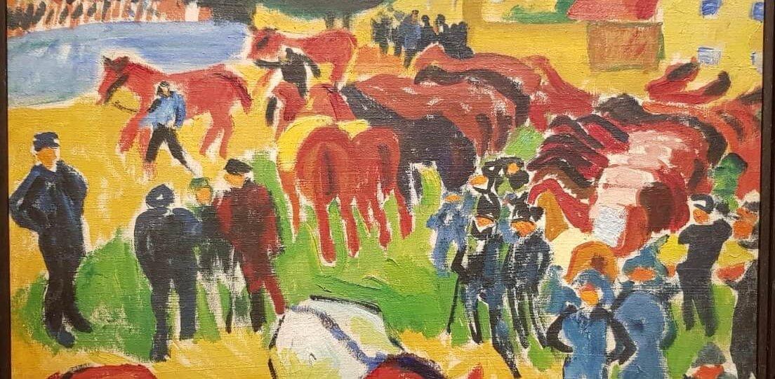 Max Pechstein expresionismo alemán feria de caballos